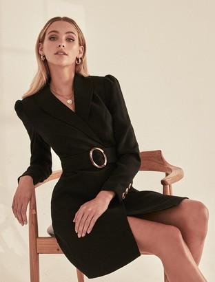 Forever New Monica Belted Blazer Dress - Black - 10