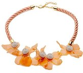 Lele Sadoughi Gold plated Crystal Lilly Necklace of 55.8-63.5cm