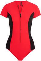 Lisa Marie Fernandez Farrah Two-tone Bonded Swimsuit - Red