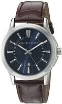Geoffrey Beene Men's GB8068SLLBNV Analog Display Japanese Quartz Silver Watch