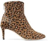 Jimmy Choo Duke 65 Leopard-print Calf Hair Ankle Boots