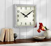 Pottery Barn Newgate Chrome Wall Clock