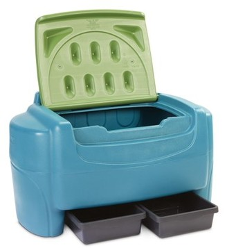 Little Tikes Go Green! Toy Chest with drawers for kids 1.5 to 4 years