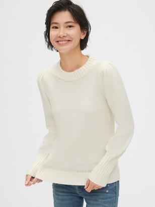 Gap Puff Sleeve Crewneck Sweater