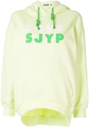 Sjyp Love Logo Print Hoodie