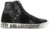 Saint Laurent glitter 'Bad Lieutenant' hi-top sneakers - women - Cotton/rubber - 35