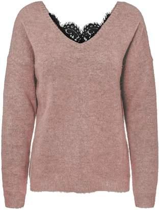Vero Moda Rana V-Neck Lace Back Sweater