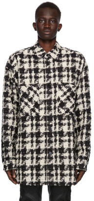 Faith Connexion SSENSE Exclusive Black and White Tweed Over Shirt