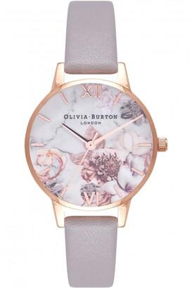 Olivia Burton Ladies Marble Florals Watch OB16CS14