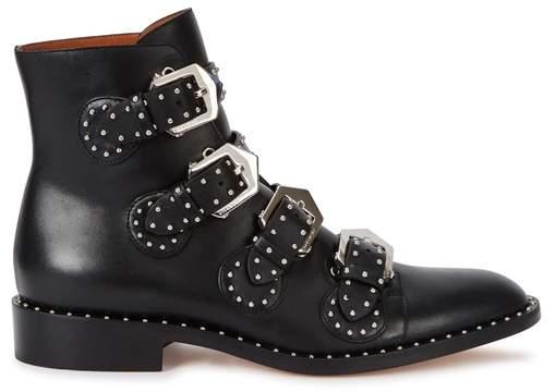 Givenchy Elegant Black Studded Leather Boots