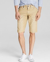 True Religion Ricky Corduroy Straight Fit Shorts in Straw
