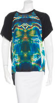 Theyskens' Theory Silk Digital Print Top