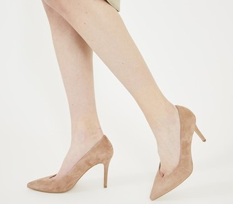 Office Martina Court Shoes Nude Suede