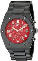 Swiss Legend Men's 10028-BKRSA Throttle Chronograph Red Dial Black Ceramic Watch