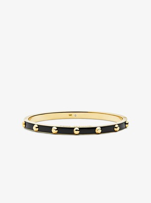 Michael Kors Studded Gold-Plated and Acetate Bangle