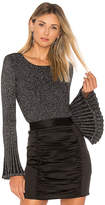 Milly Rib Flare Sleeve Sweater