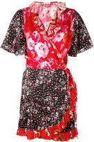 Attico printed kimono dress