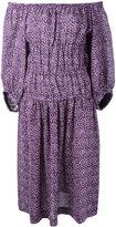 Sonia Rykiel off-shoulder shift dress - women - Linen/Flax - 36