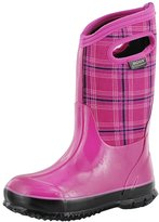 Bogs Girls' Classic Winter Plaid Tall Waterproof Winter Boot 6 M US