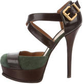 Fendi Multistrap Platform Pumps