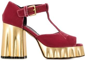 Marni Gold Platform Sandals