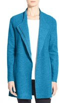 Eileen Fisher Petite Women's Asymmetrical Boiled Merino Wool Jacket