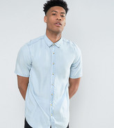 Asos TALL Regular Fit Drapey Denim Shirt