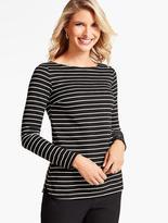 Talbots Dornie-Stripe Long-Sleeve Top