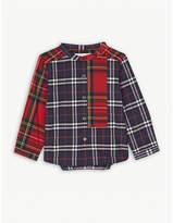 Burberry Argus collarless cotton shirt 6-36months