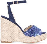 Paloma Barceló fringed wedge sandals