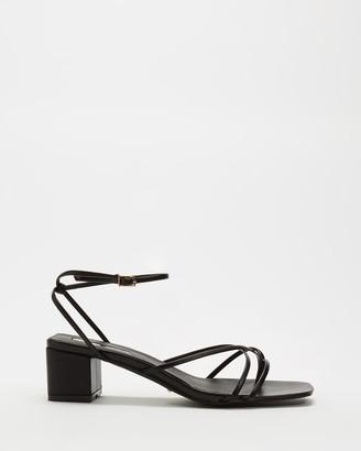 Billini - Women's Black Strappy sandals - Mica - Size 7 at The Iconic