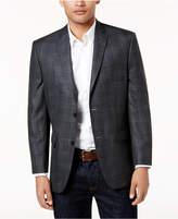 Andrew Marc Men's Slim-Fit Gray Plaid Sport Coat