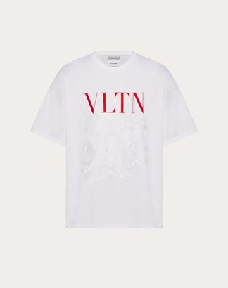 Valentino Vltn T-shirt With Embroidered Detailing In Collaboration With Doublet Man White Cotton 100% M