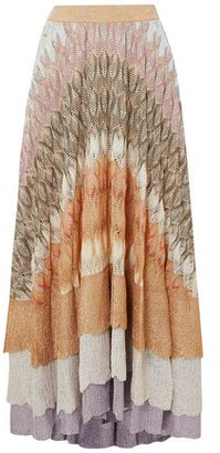 Missoni Tiered Metallic Crochet-knit Silk-blend Maxi Skirt