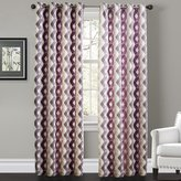 IYUEGO Contemporary Warm Colors Overlapping Lattice Grommet Top Lined Blackout Curtains Draperies With Size Custom (One Panel)