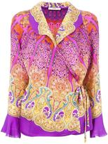 Etro side tie wrap blouse