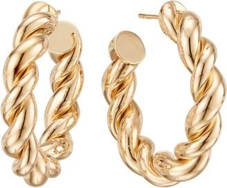 Lana Braided Royale Hoop Earrings