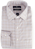 Hart Schaffner Marx Non-Iron Fitted Classic-Fit Spread-Collar Check Dress Shirt