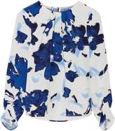 Oscar de la Renta Printed silk crepe de chine blouse