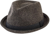 San Diego Hat Company Men's Wool Pork Pie with Trim SDH9442