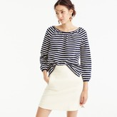 J.Crew Striped peasant top