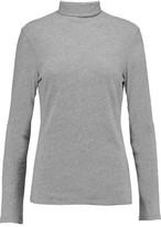 James Perse Turtleneck Cotton-Blend Jersey Top