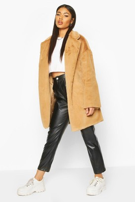 boohoo Faux Fur Belted dressing gown Coat