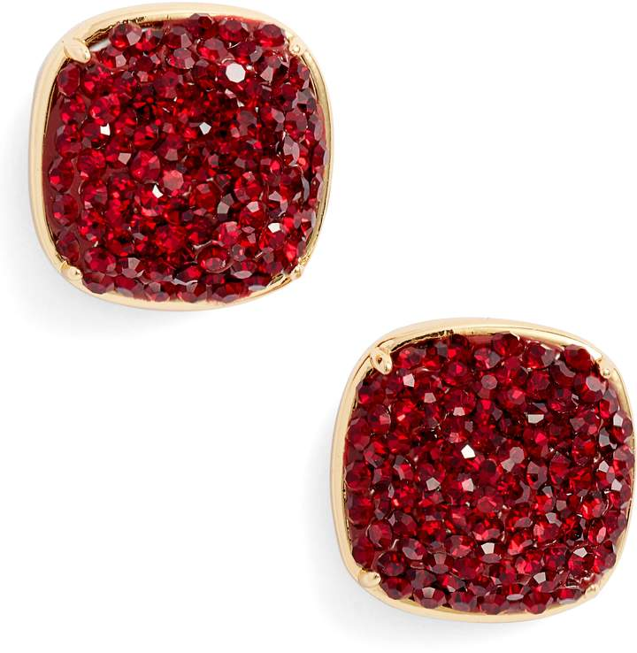 Kate Spade Pave Small Square Stud Earrings