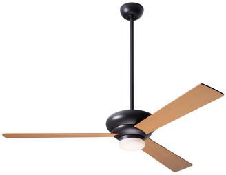 """Modern Fan Altus 17W LED Fan, Dark Bronze, 42"""" Maple Blades"""