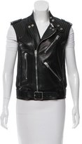 Saint Laurent Leather Moto Vest