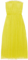 Jason Wu Swiss-dot Tulle Dress - Chartreuse