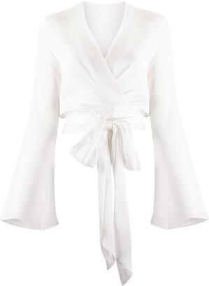 Galvan Corolle wrap blouse