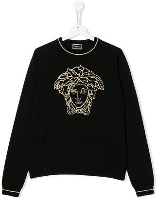 Versace TEEN knitted Medusa jumper