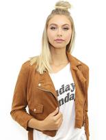 West Coast Wardrobe Carlsbad Cropped Moto Jacket in Sienna